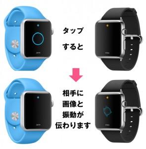 Apple Watchタップ機能
