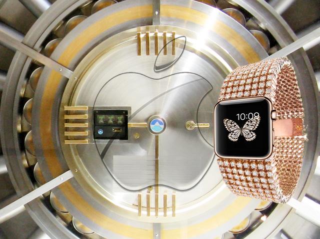 高級モデル アップルウォッチは金庫へ