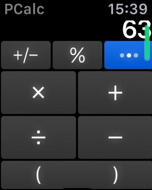 アップルウォッチ 電卓アプリPCalc Lite