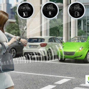 スマートウォッチが自動車の鍵になる!ヴァレオ、2015 インターナショナルCESでInBlueバーチャルキー展示