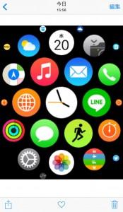 アップルウォッチ スクリーンショット画像