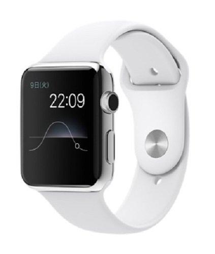 Apple Watch 38mmステンレススチールケースとホワイトスポーツバンド