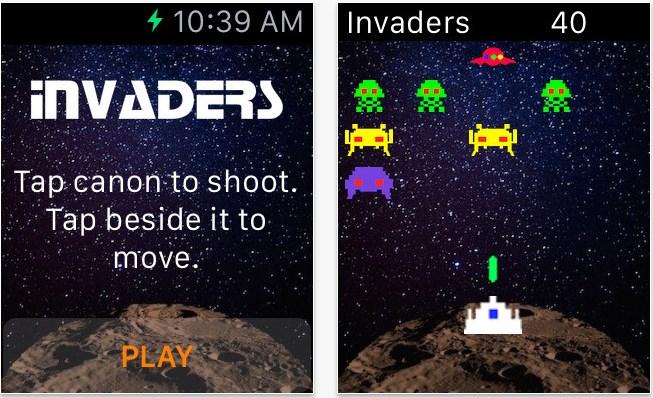 アップルウォッチ ゲーム インベーダー