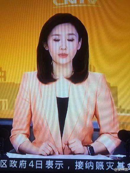 中国国営放送CCTVの美人女性アナウンサーアップルウォッチ